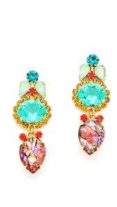 elizabeth cole crystal drop earrings  shopbop-t47736